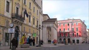Centro di Campobasso della cittadina di Molise stock footage