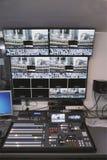 Centro di controllo dello studio della TV Immagine Stock