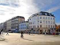 Centro di Copenhaghen, Danimarca Immagini Stock