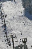 Centro di corsa con gli sci Immagine Stock