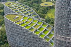 Centro di finanza internazionale di Tianfu Chengdu - in Cina immagini stock
