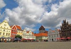 Centro di Greifswald fotografia stock libera da diritti