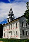 Centro di Jaffrey, Camera di riunione di originale del NHl 1775 Fotografia Stock Libera da Diritti