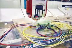 Centro di lavorazione di CNC con il raffreddamento ad acqua fotografia stock
