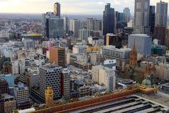 Centro di Melbourne da sopra Fotografie Stock Libere da Diritti