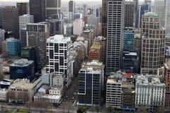 Centro di Melbourne da sopra Fotografia Stock Libera da Diritti