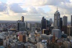 Centro di Melbourne da sopra Fotografia Stock