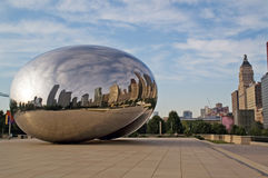 Centro di millennio in Chicago del centro fotografie stock libere da diritti