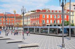 Centro di Nizza a tempo caldo di giorno Immagine Stock Libera da Diritti