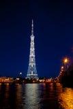 Centro di radiodiffusione di St Petersburg della torre della TV (Leningrado) Fotografia Stock