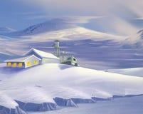 Centro di ricerca polare illustrazione vettoriale