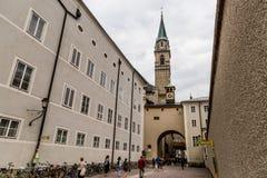 Centro di Salisburgo, Austria immagine stock libera da diritti