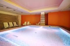 Centro di sauna nel waterpark Caribia Immagini Stock