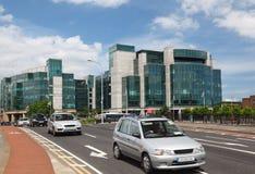 Centro di servizi finanziari internazionale Immagine Stock Libera da Diritti