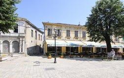 Centro di shkoder Albania Europa Fotografia Stock