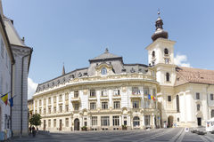 Centro di Sibiu, Romania Fotografia Stock