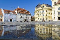 Centro di Sibiu in Transylvania Immagini Stock Libere da Diritti
