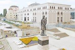 Centro di Skopje fotografia stock libera da diritti