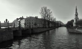 Centro di St Petersburg: Manica di Kryukov Immagini Stock Libere da Diritti