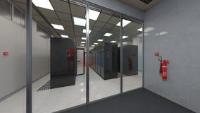 Centro di supercomputing Fotografia Stock Libera da Diritti