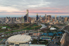 Centro di tennis del parco di Melbourne Immagini Stock Libere da Diritti