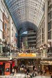 Centro di Toronto Eaton Fotografie Stock Libere da Diritti