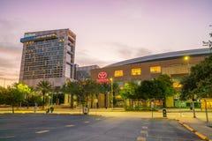 Centro di Toyota a Houston del centro Immagini Stock Libere da Diritti