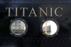 Centro di visita titanico nel cobh immagini stock