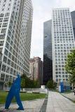 Centro direzionale dell'Asia Pechino, Cina, architettura moderna, costruzioni molto-leggendarie della città Immagine Stock Libera da Diritti
