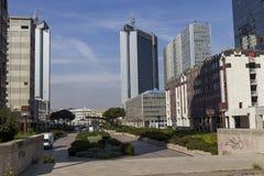 Centro direzionale di Napoli Fotografie Stock Libere da Diritti