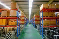 Centro do armazenamento da logística de Chang'an Minsheng Foto de Stock