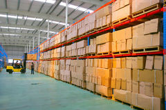 Centro do armazenamento da logística de Chang'an Minsheng Fotografia de Stock Royalty Free