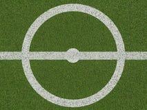 Centro do campo do soccerfield ou de futebol na vista superior Imagens de Stock