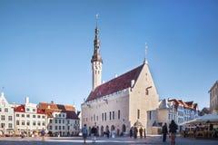 Centro do capital de Estónia, Tallin foto de stock