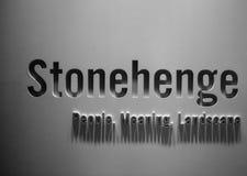 Centro do ` dos visitantes de Stonehenge fotos de stock