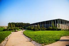 Centro do ` dos visitantes de Stonehenge foto de stock