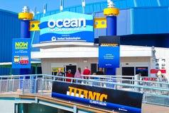 Centro do explorador do oceano no aquário místico Imagens de Stock Royalty Free