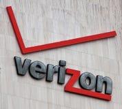 Centro do interruptor de Verizon foto de stock