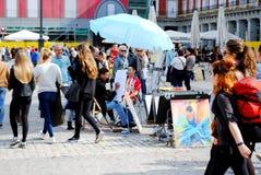 Centro do mercado em madrid Fotos de Stock