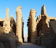 Centro do templo de Karnak, Luxor, Egito imagens de stock