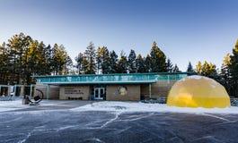 Centro do visitante da astronomia da mancha solar - Cloudcroft, nanômetro fotos de stock