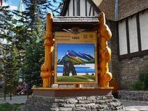 Centro do visitante de Banff Fotografia de Stock