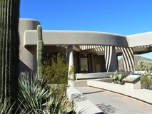 Centro do visitante no parque nacional de Saguaro Imagem de Stock