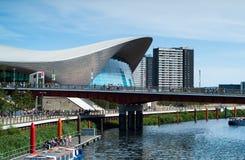 Centro dos Aquatics de Londres foto de stock