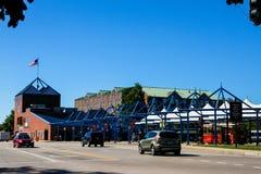 Centro dos visitantes de Newport, avenida do copo de América, Newport, RI imagens de stock royalty free