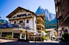 Centro edificato di Alpe di Siusi Immagine Stock Libera da Diritti
