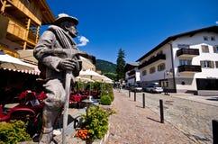 Centro edificato di Alpe di Siusi Fotografia Stock