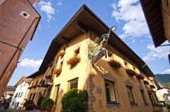 Centro edificato di Castelrotto Fotografia Stock