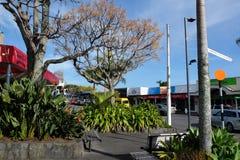Centro edificato di Kerikeri, Northland, Nuova Zelanda, NZ Fotografia Stock