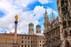 Centro edificato di Monaco di Baviera, Germania Immagini Stock Libere da Diritti